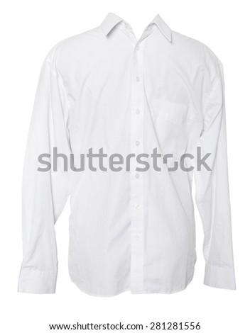 Business Shirt on Isolated White Background - stock photo