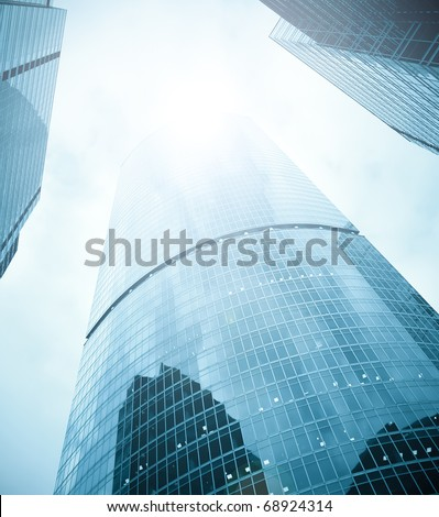 business skyscrapers of downtown - stock photo