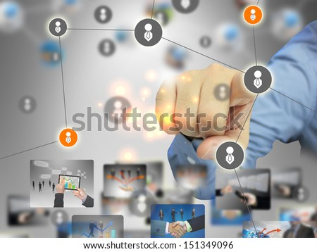 business social network - stock photo