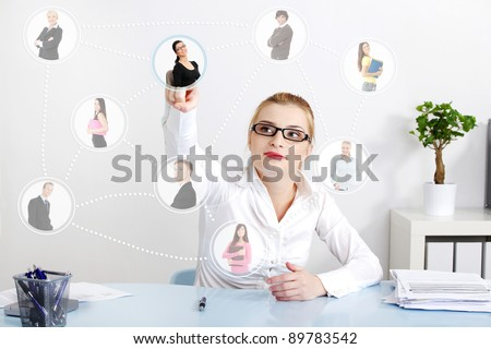 Business social network connection. - stock photo