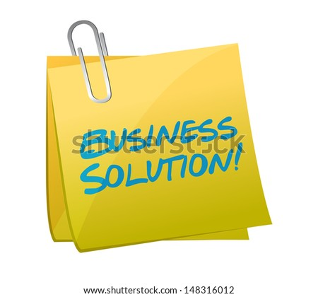 business solution post illustration design over a white background - stock photo