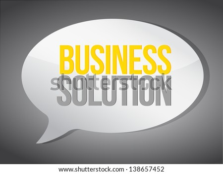 business solutions message illustration design over white