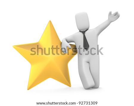 Business star. Image contain clipping path - stock photo