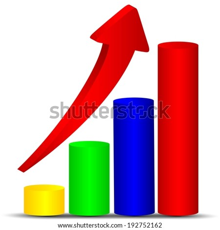 Business statistics - stock photo