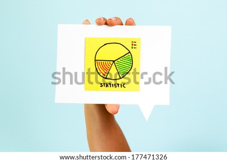 Business statistics report concept - stock photo
