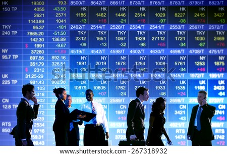 Business Stock Exchange Trading Concepts - stock photo