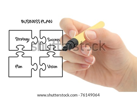 business strategy and plan - stock photo