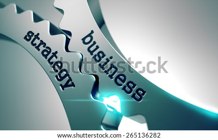 Business Strategy on the Mechanism of Metal Gears. - stock photo