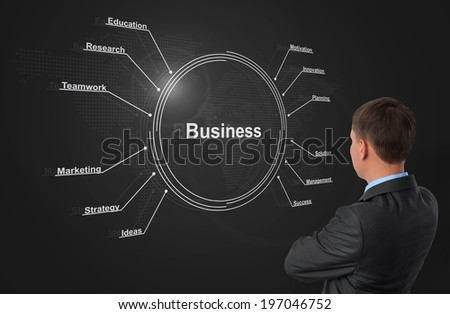 business strategy plan concept - stock photo