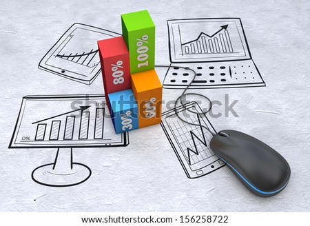Business strategy planning as concept - stock photo