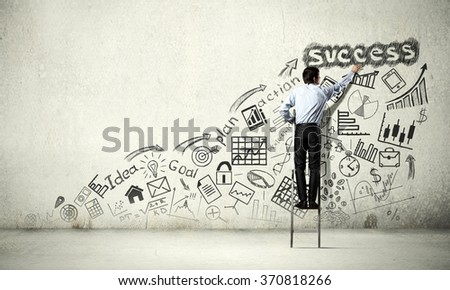 Business strategy presentation - stock photo