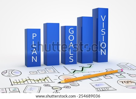Business strategy vision as a concept - stock photo