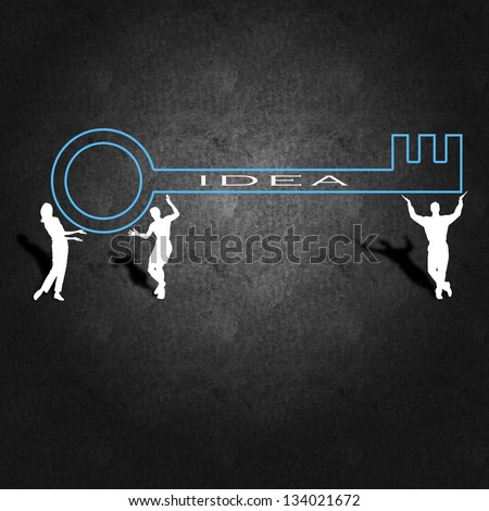 Business success and management plan - stock photo