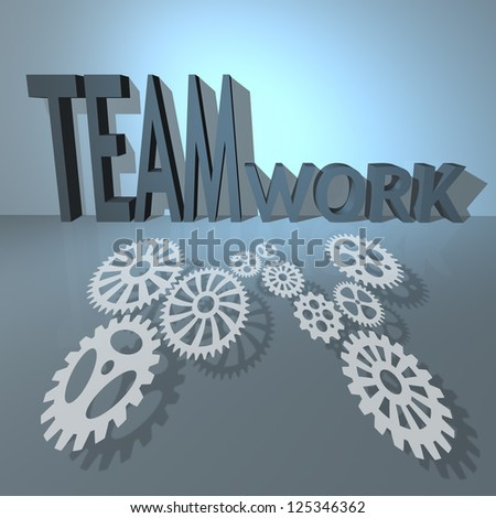 Business success and teamwork concept - stock photo