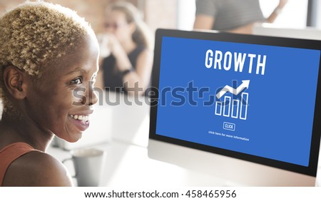 Business Success Report Graph Concept - stock photo