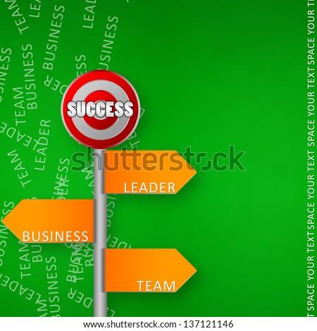 Business success way design - stock photo