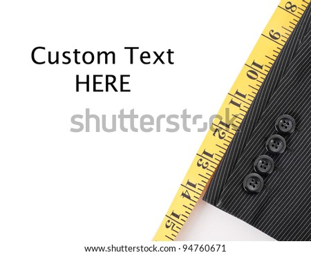 Business Suit Tailoring with Custom Space for Text - stock photo
