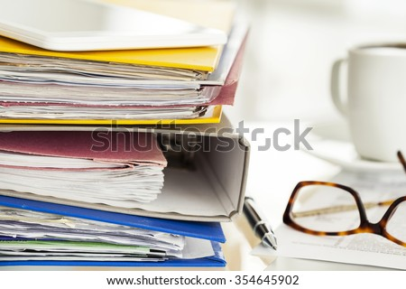 Business table - stock photo