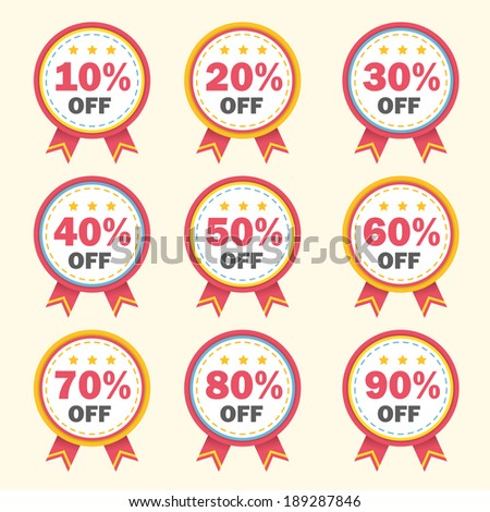 business tag set and sale label elements - stock photo