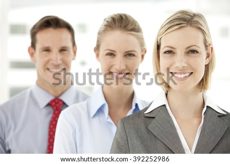 Business team. Business people standing in a row. - stock photo