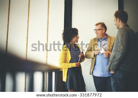 Business Team Coffee Break Relax Concept - stock photo