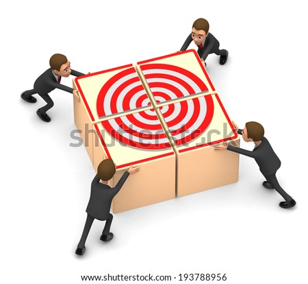business team collected goal - stock photo