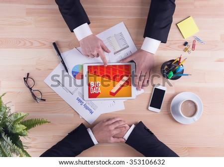 Business team concept - BIG DATA - stock photo