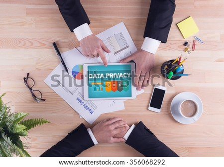 Business team concept - DATA PRIVACY - stock photo