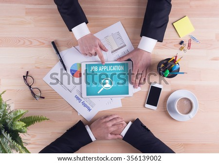 Business team concept - JOB APPLICATION - stock photo