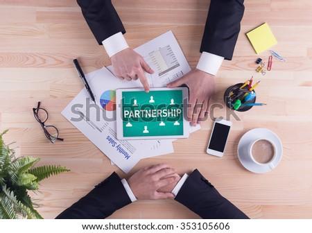 Business team concept - PARTNERSHIP - stock photo