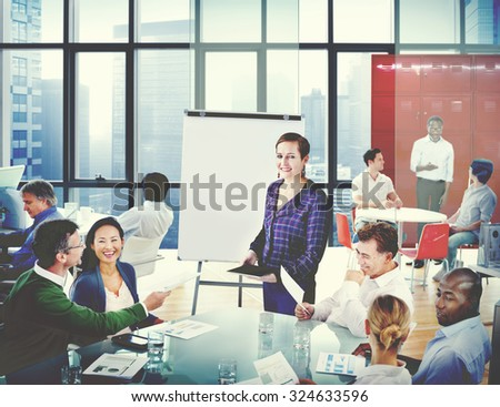 Business Team Cooperation Occupation Partnership Concept - stock photo