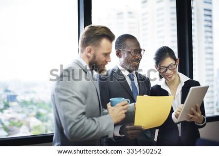 Business Team Corporate Organization Meeting Concept - stock photo