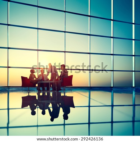 Business Team Discussion Meeting Corporate Concept - stock photo