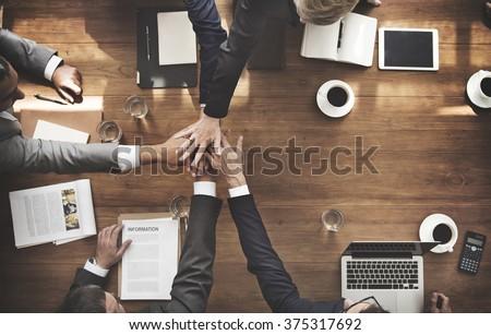 Business Team Empowerment Success Motivation Concept - stock photo