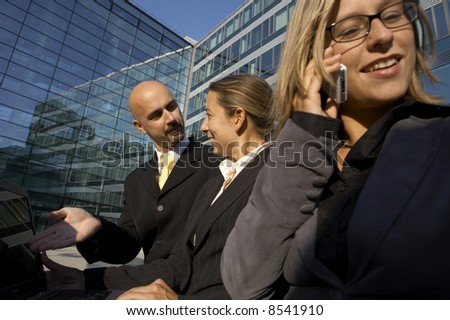 Business Team having a discussion - stock photo
