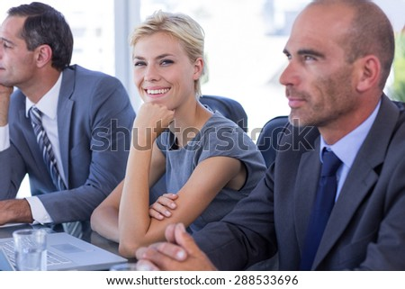 Business team having a meeting in the office - stock photo