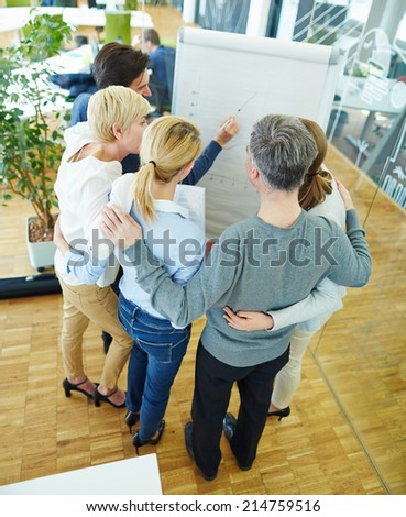 Business team having meeting in conference room in the office - stock photo