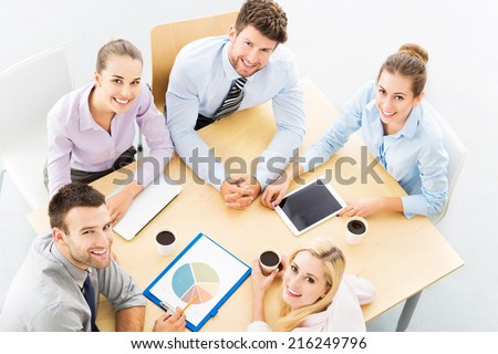 Business team, high angle  - stock photo