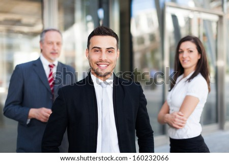 Business team in an urban setting - stock photo