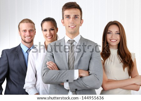 Business team in office - stock photo
