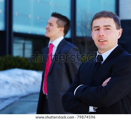 Business team in the street