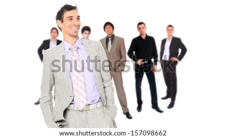 Business team isolated on white background