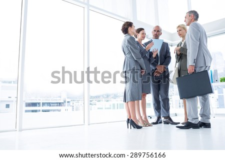 Business team listening conference in the office - stock photo