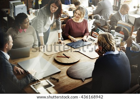 Business Team Meeting Brainstorming Together Concept - stock photo