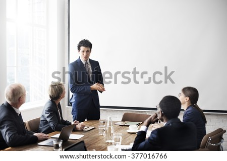 Business Team Meeting Working Presentation Concept - stock photo