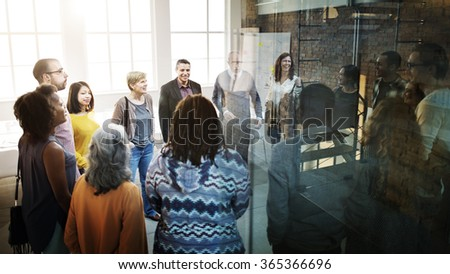Business Team Organization Brainstorming Meeting Concept - stock photo