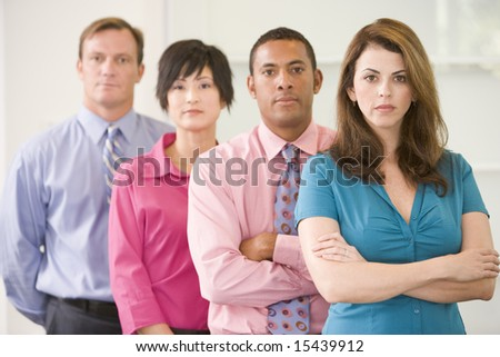 Business team standing indoors