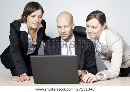 Business team three people