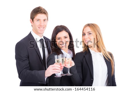 Business Team Toasting
