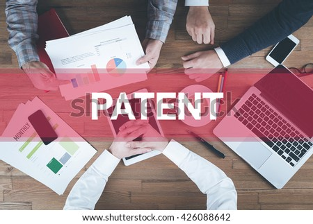 Business team working and Patent concept - stock photo